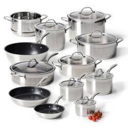 ProCook Professional Steel Cookware Set - 12 Piece