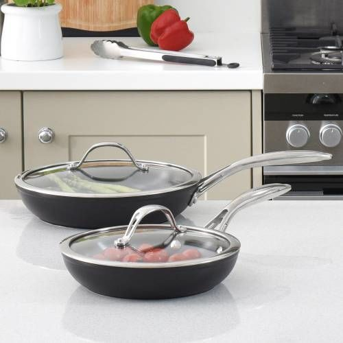 Professional Ceramic Frying Pan with Lid Set 20cm and 24cm