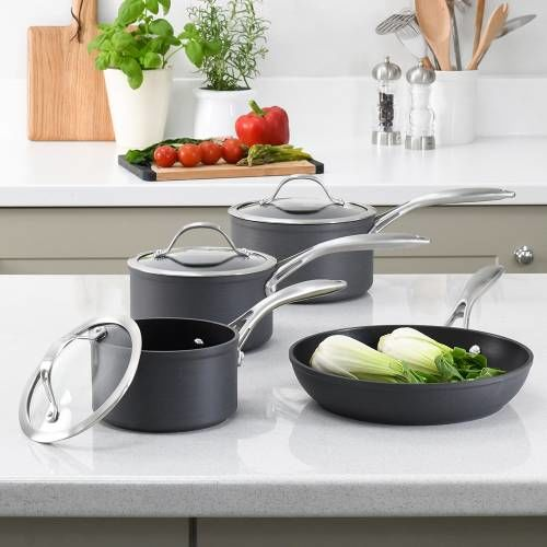 Professional Anodised Cookware Set 4 Piece