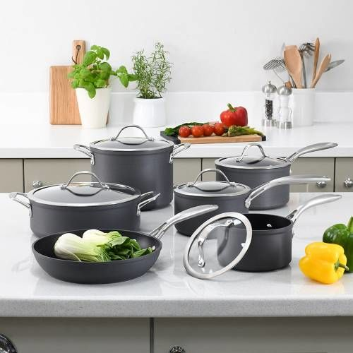 Professional Anodised Cookware Set 6 Piece