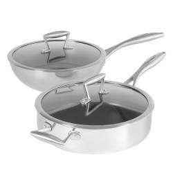 ProCook Elite Tri-Ply Wok and Saute Pan Set - 2 Piece