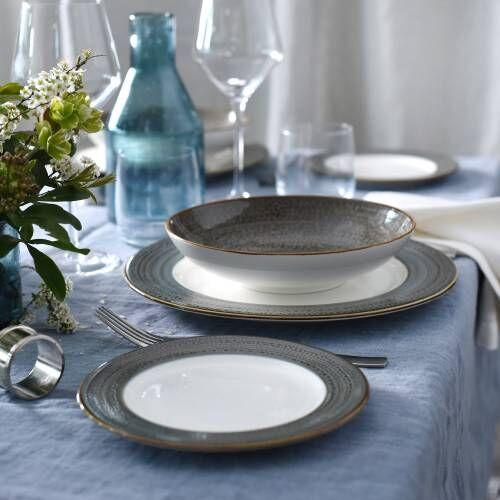 Napa Porcelain Dinner Set with Pasta Bowls 12 Piece - 4 Settings