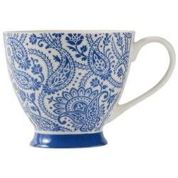 ProCook Footed Mug - Paisley Blue