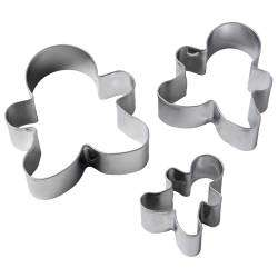 ProCook Gingerbread Men Cookie Cutters - Set of 3