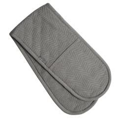 ProCook Double Oven Glove - Grey Herringbone