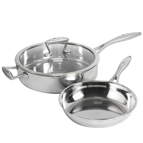 Elite Tri-ply Saute and Frying Pan Set 2 Piece Uncoated
