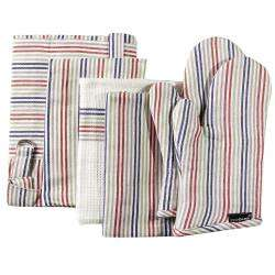 ProCook Kitchen Linen 4 Piece Set - Multi Stripe