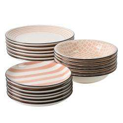 ProCook Polperro Stoneware Dinner Set - 18 Piece  - 6 Settings