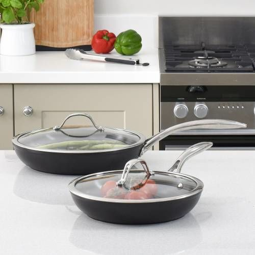 Professional Ceramic Frying Pan with Lid Set 24cm and 28cm