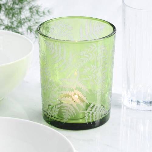 ProCook Green Fern Design Candle Holder Large
