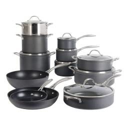 Professional Anodised Cookware Set - 12 Piece