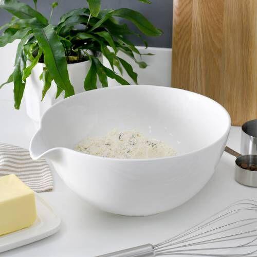 ProCook Porcelain Mixing or Batter Bowl 24cm White