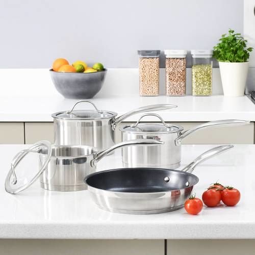 Professional Stainless Steel Cookware Set 4 Piece