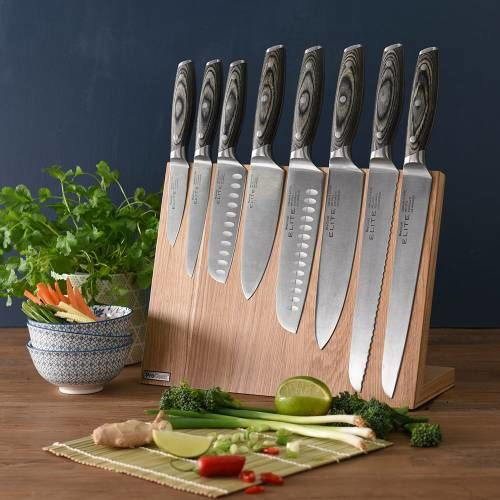 Elite Ice X50 Knife Set 8 Piece and Magnetic Block