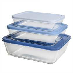 ProCook Airtight Glass Storage Dish Set - 3 Piece