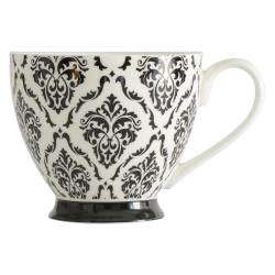 ProCook Footed Mug - Damask Black and White
