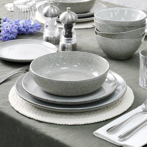 Oslo Coupe Stoneware Dinner Set 20 Piece - 4 Settings