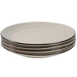 Coastal Stoneware Grey Dinner Plate - Set of 4 - 27cm