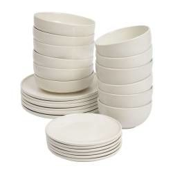 ProCook Stockholm Ivory Stoneware Dinner Set - 24 Piece - 6 Settings