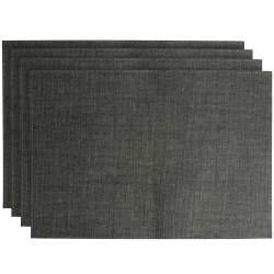 ProCook Rectangular Placemats - Set of 4 - Charcoal Woven