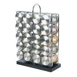 ProCook Contemporary Spice Rack - 20 Jars With Spices