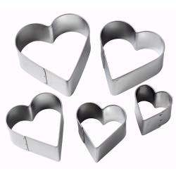 ProCook Heart Cookie Cutters - Set of 5