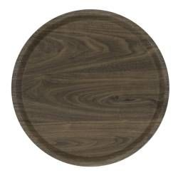 ProCook Round Serving Tray - Dark Wood 39cm