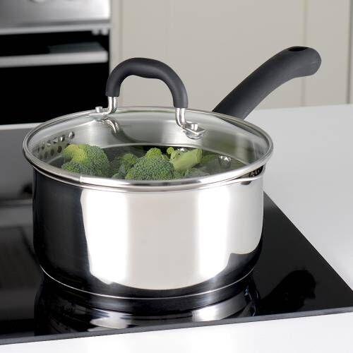 Gourmet Stainless Steel Saucepan & Lid 18cm / 2.4L