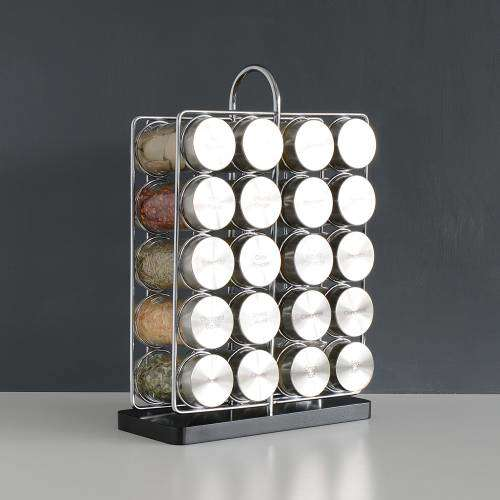ProCook Contemporary Spice Rack 20 Jars With Spices