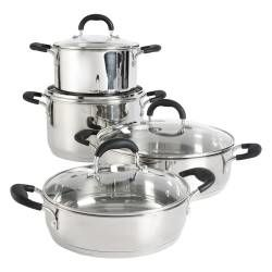 Gourmet Stainless Steel Casserole Set - 4 Piece