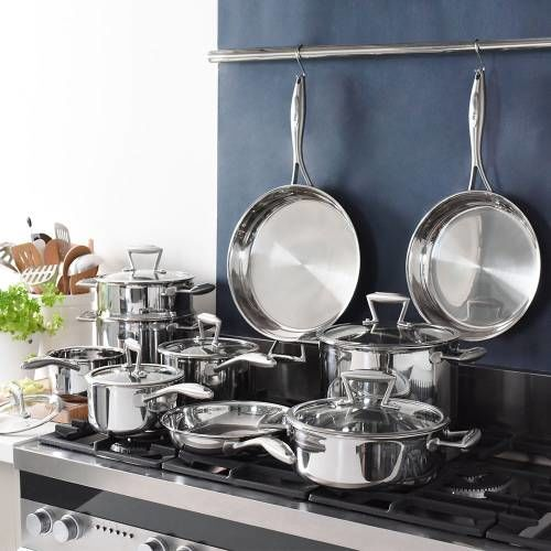 Elite Tri-ply Cookware Set Uncoated 10 Piece