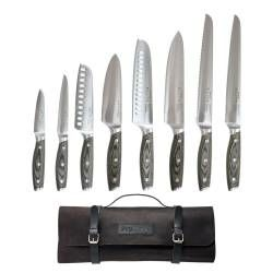 ProCook Elite Ice X50 Knife Set - 8 Piece and Leather Knife Case