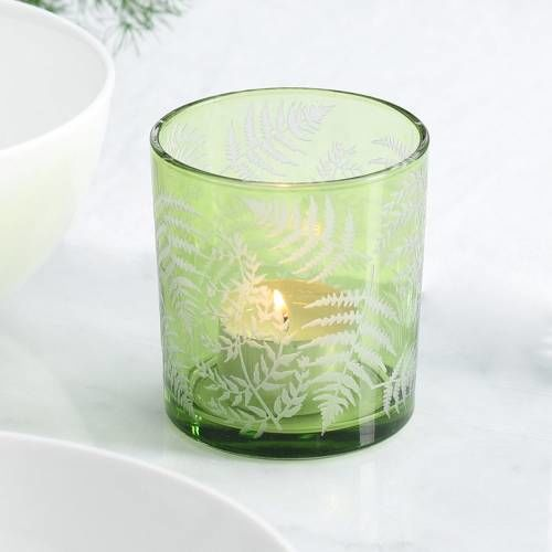 ProCook Green Fern Design Candle Holder Small