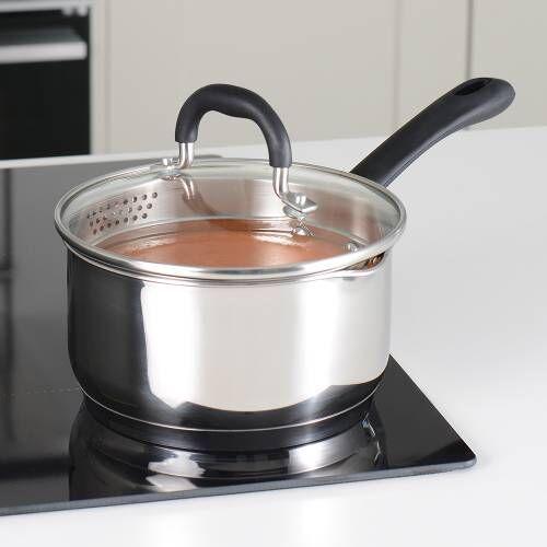 Gourmet Stainless Steel Saucepan & Lid 16cm / 1.7L