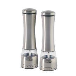 ProCook Premium Electric Stainless Steel Salt & Pepper Mill Set - 21cm
