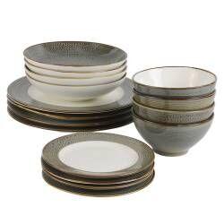 Napa Porcelain Dinner Set - 16 Piece - 4 Settings