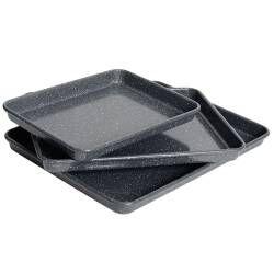 ProCook Non-Stick Granite Baking Tray Set - 3 Piece