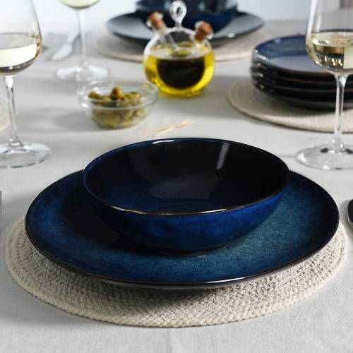 Vaasa Stoneware Dinner Set with Cereal Bowls 12 Piece - 4 Settings