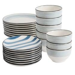 ProCook Dartmouth Stoneware Dinner Set - 24 Piece - 8 Settings