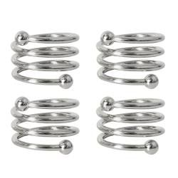 ProCook Napkin Rings - 4 Piece Twisted