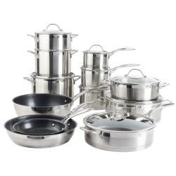 Professional Stainless Steel Cookware Set - 12 Piece