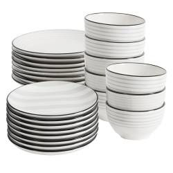 ProCook Salcombe Stoneware Dinner Set - 24 Piece - 8 Settings