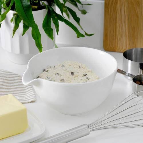 ProCook Porcelain Mixing or Batter Bowl 16.5cm White