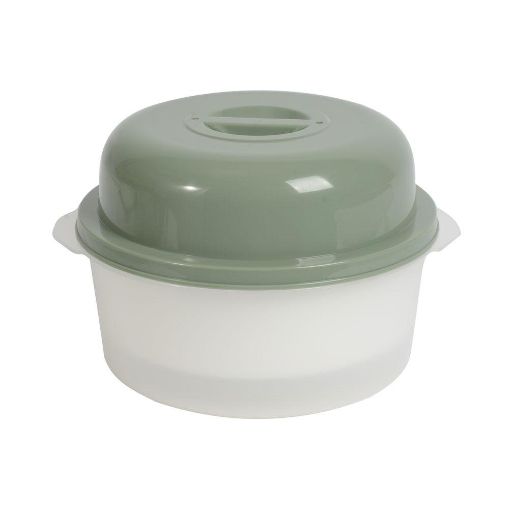 """BRAND NEW 5.5/"""" = 14 CM WHITE PLASTIC VEGETABLE STEAMER MICROWAVE SAFE"""