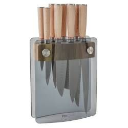 Nihon X50 Knife Set - 8 Piece and Glass Block