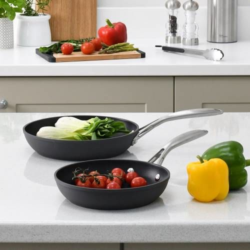 Professional Anodised Frying Pan Set 20 and 24cm