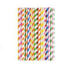 Life's a Beach Paper Straws - Candy Stripe 75 Pieces