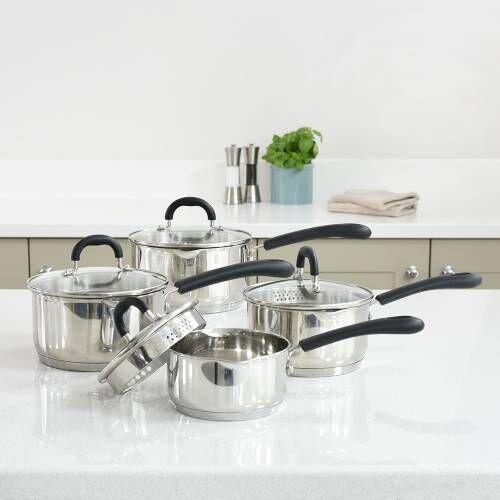 Gourmet Stainless Steel Saucepan Set 4 Piece