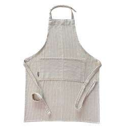 ProCook Apron - Biscuit and Cream Stripe