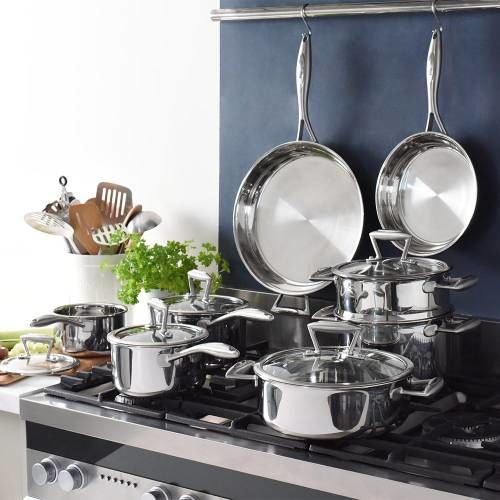 Elite Tri-ply Cookware Set Uncoated 8 Piece